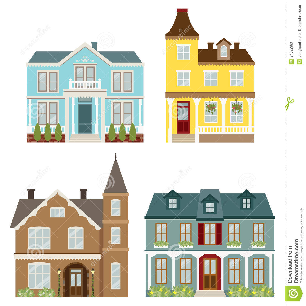 Victorian House Clipart.