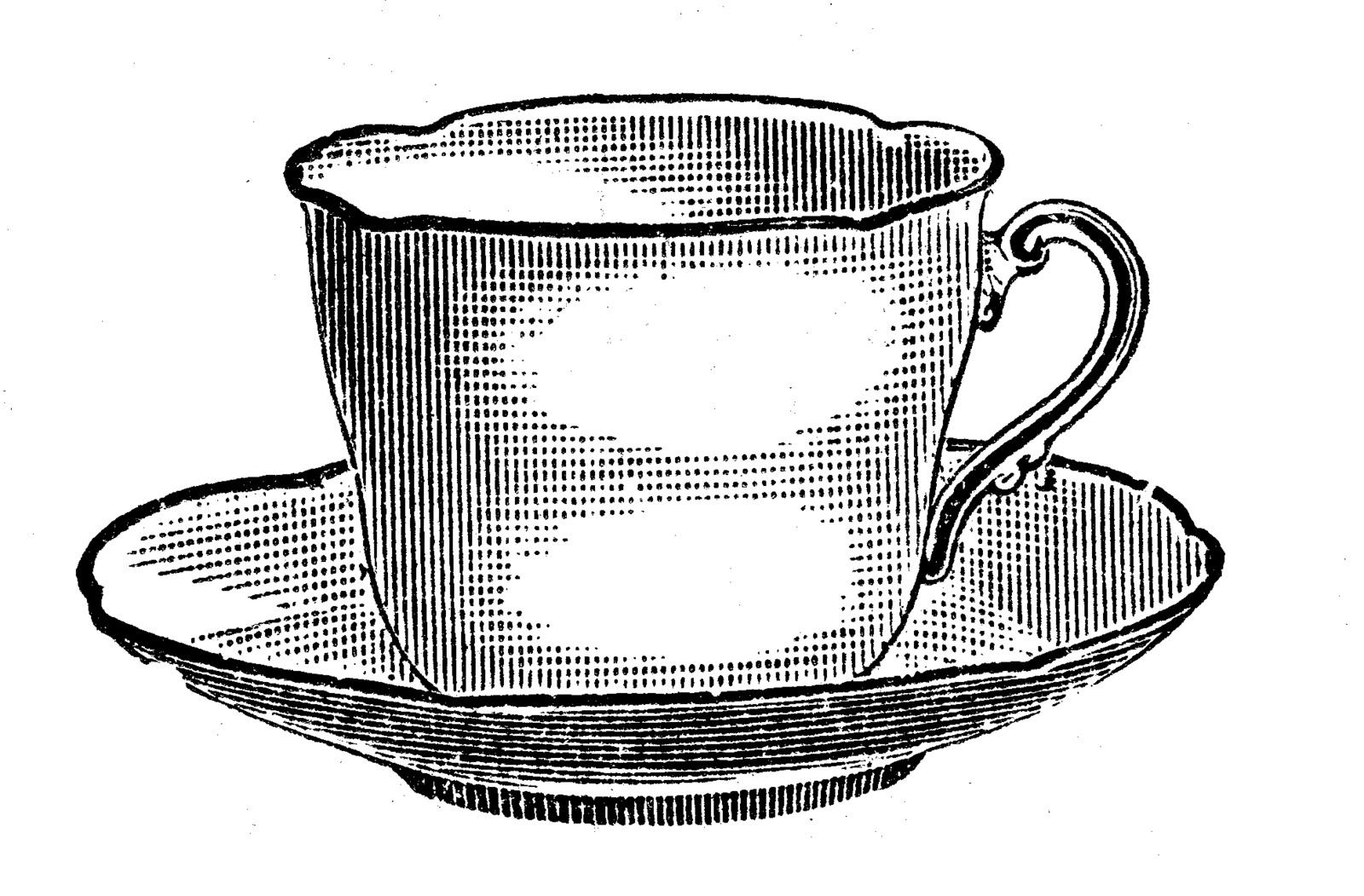 Vintage Tea Party Clipart.