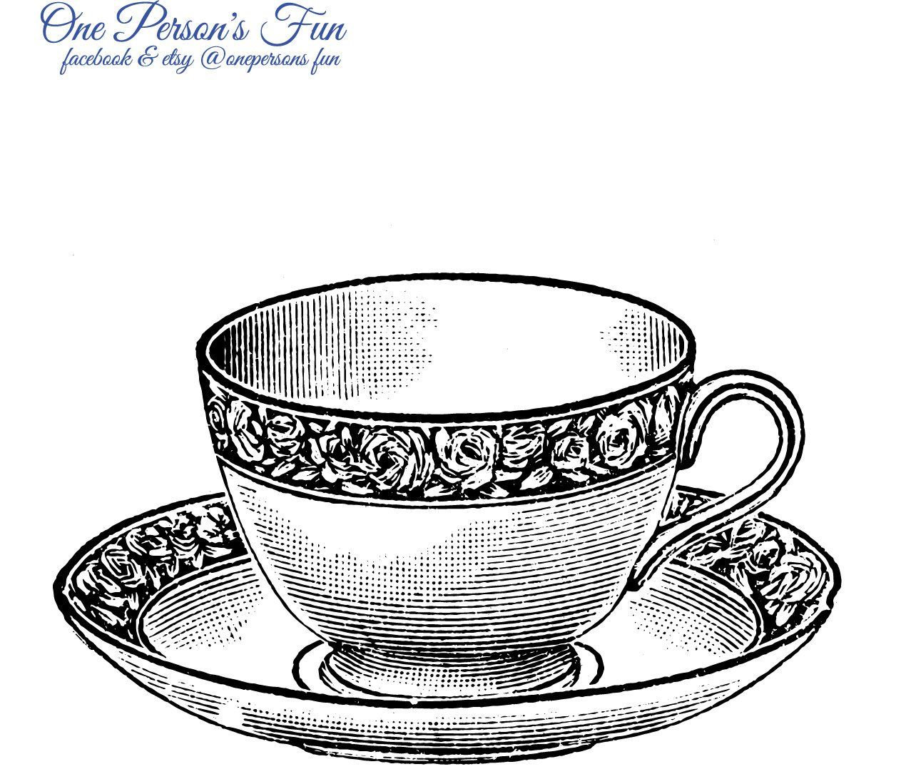 Vintage Teacup Transparent PNG.