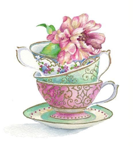 Image result for Teapot and Teacup Clip Art Borders.