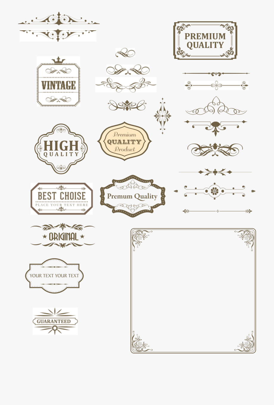Flourish Clipart Free Text Divider.