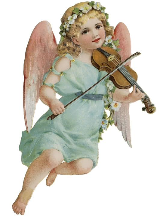 Cherub and Violin.