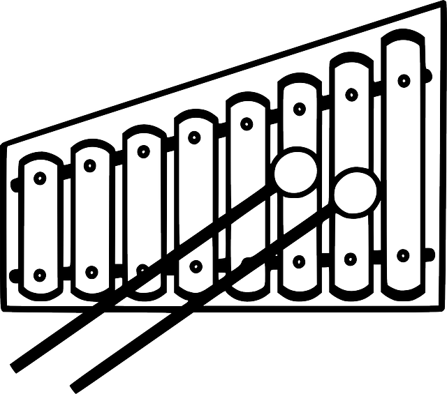 Xylophone Clipart Tool Illustration.