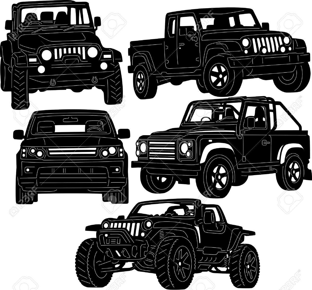 Jeep Mud Clip Art Vector.