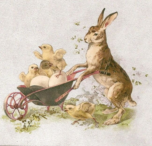 bumble button: Free Clip art Antique Victorian Easter.