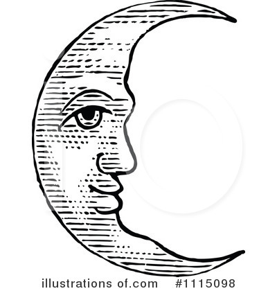 Moon clipart vintage, Moon vintage Transparent FREE for.