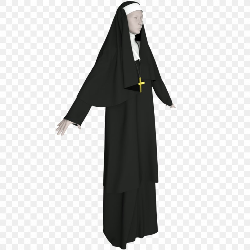 Nun Religious Habit Clothing Veil Wimple, PNG, 1000x1000px.