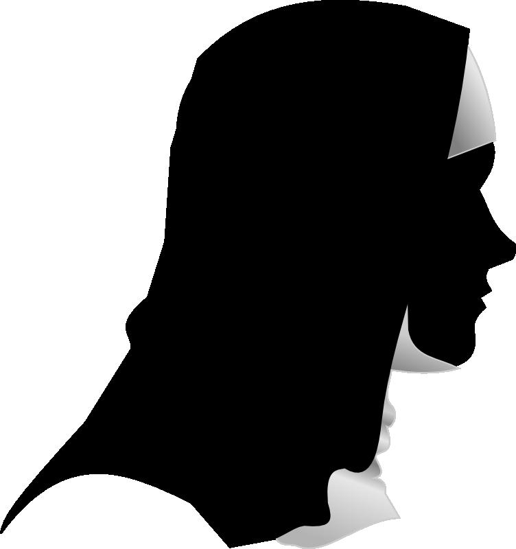 Nun Silhouette Clip art.