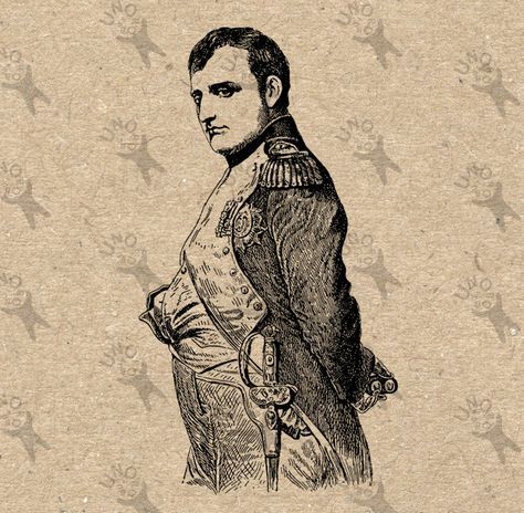 Vintage retro drawing image portrait Napoleon Instant.