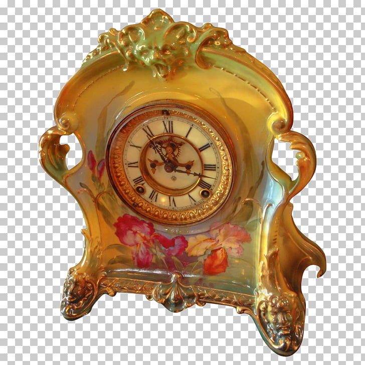 Rococo Revival Victorian era Antique Clock, others PNG.