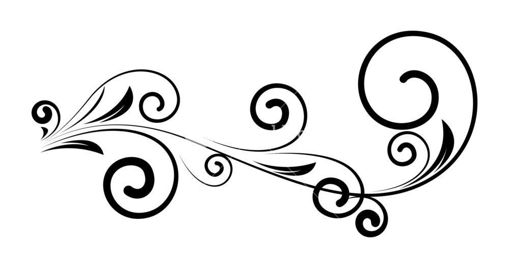 Vintage Swirl Clipart.