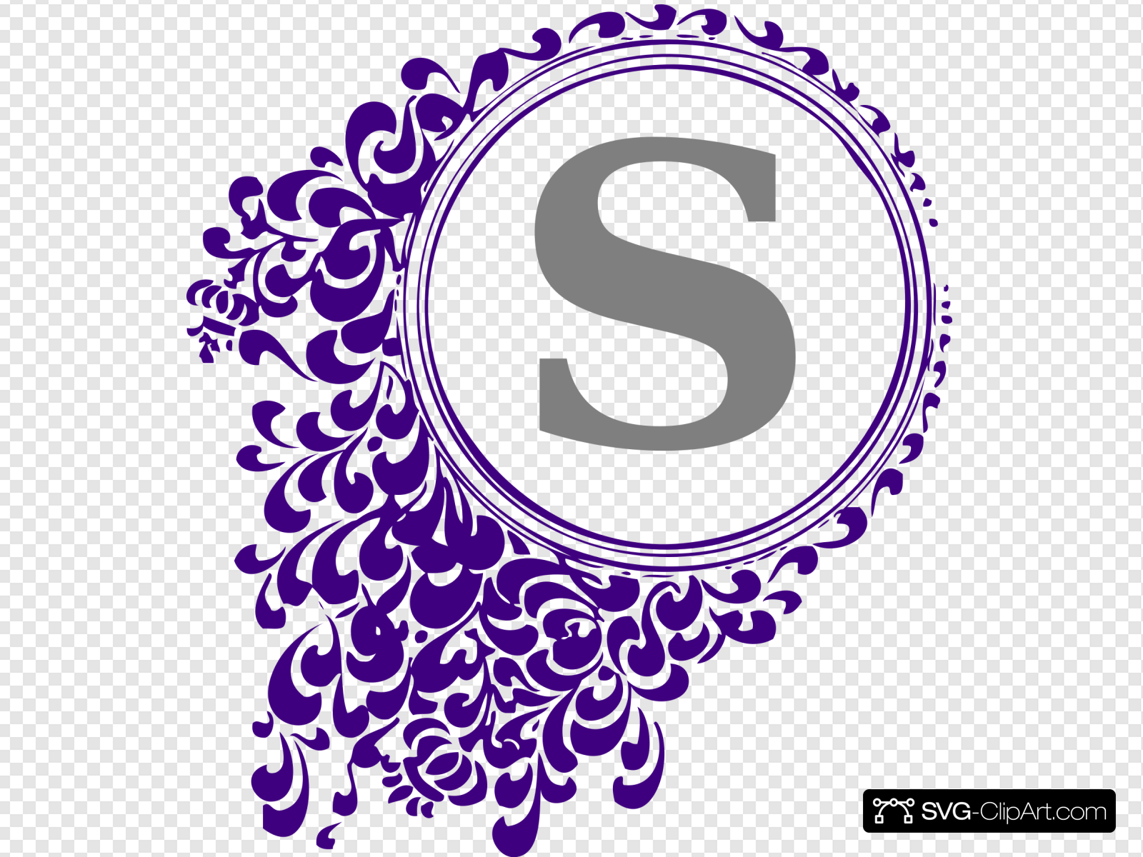 Purple Vintage Clip art, Icon and SVG.
