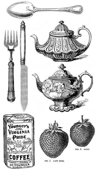 digi freebies spoon, fork, teapot.