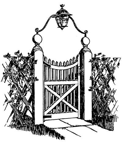 Gate clipart dream garden, Gate dream garden Transparent.