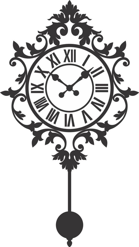 Old Clock Decal Sticker Wall Mural Art Graphic Vintage Victorian.