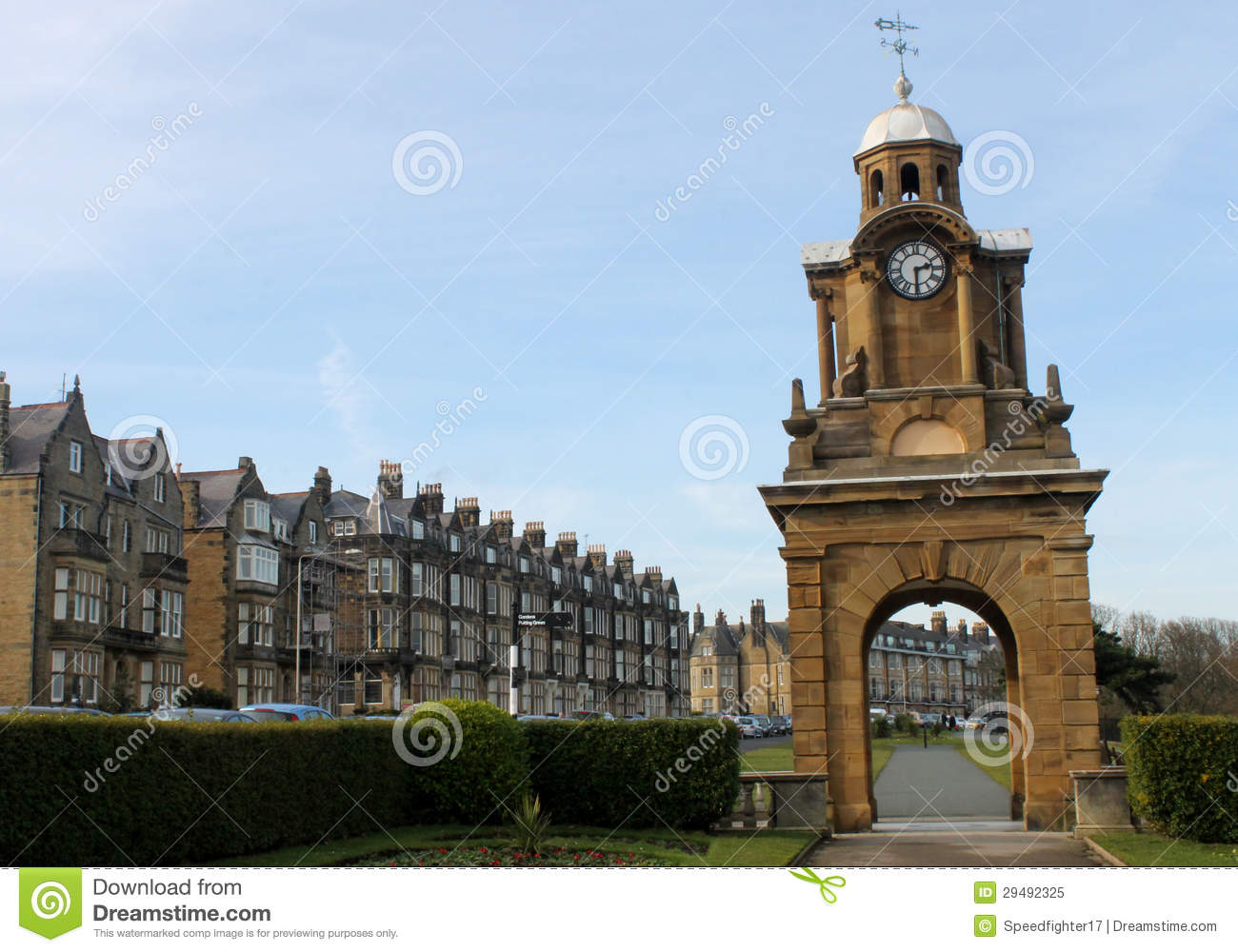Victorian Clock Tower Stock Images.