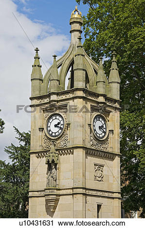 Stock Photography of England, North Yorkshire, Ripon. Victoria.