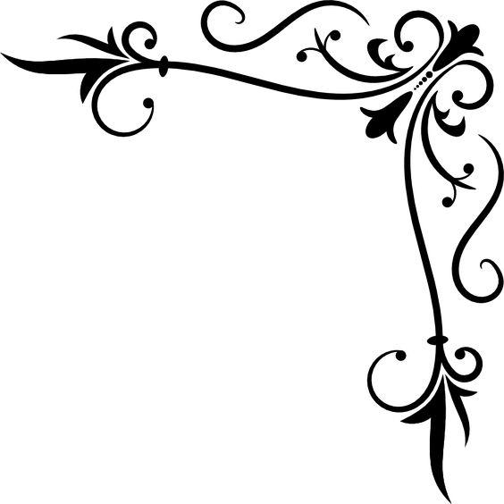 victorian scroll corner clip art png.