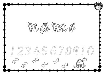 EDITABLE name TRACE and numbers to 10 K PP Prep VIC MOD CURSIVE font 10  designs.
