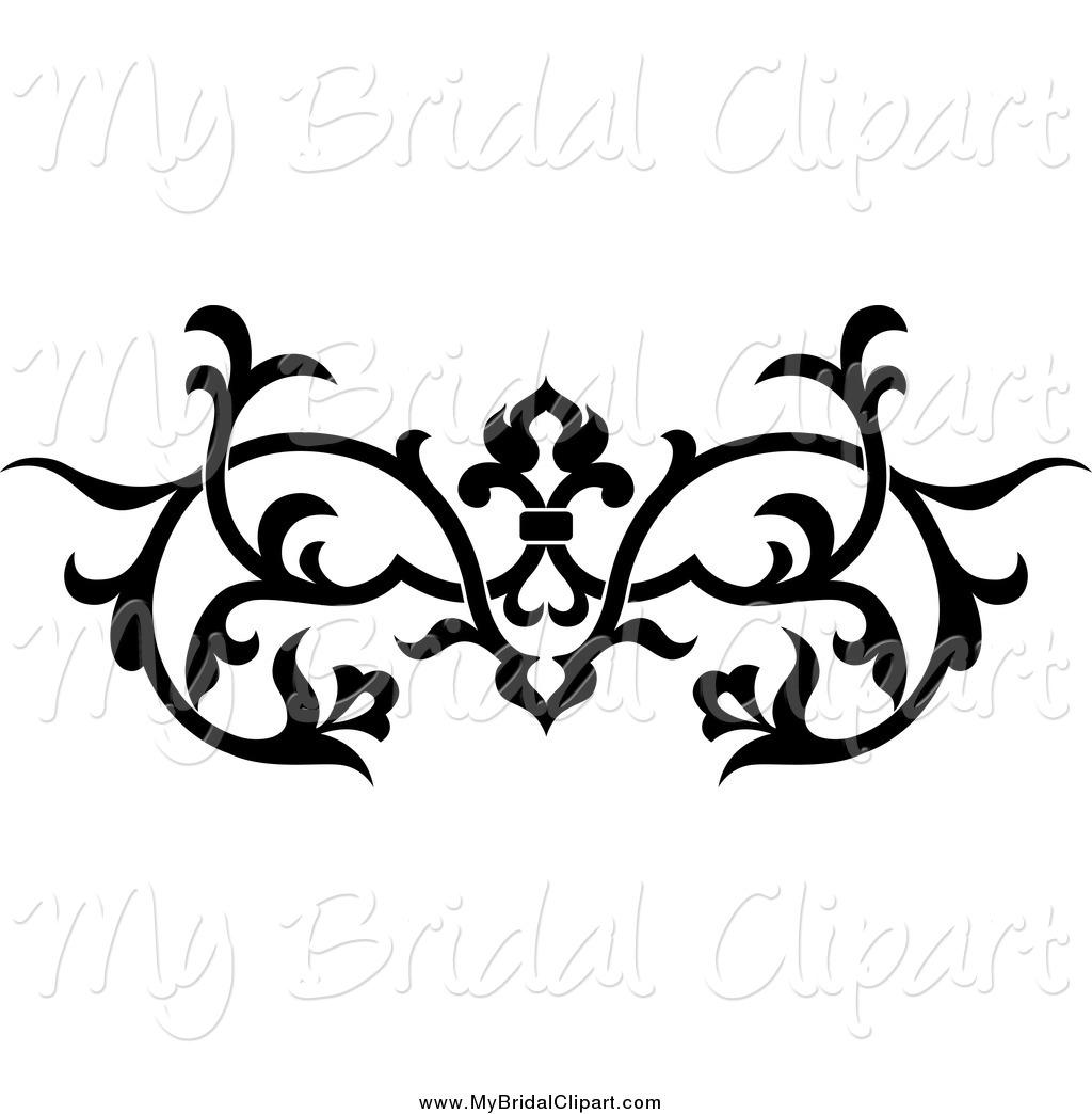 Victorian Flourish Clipart.