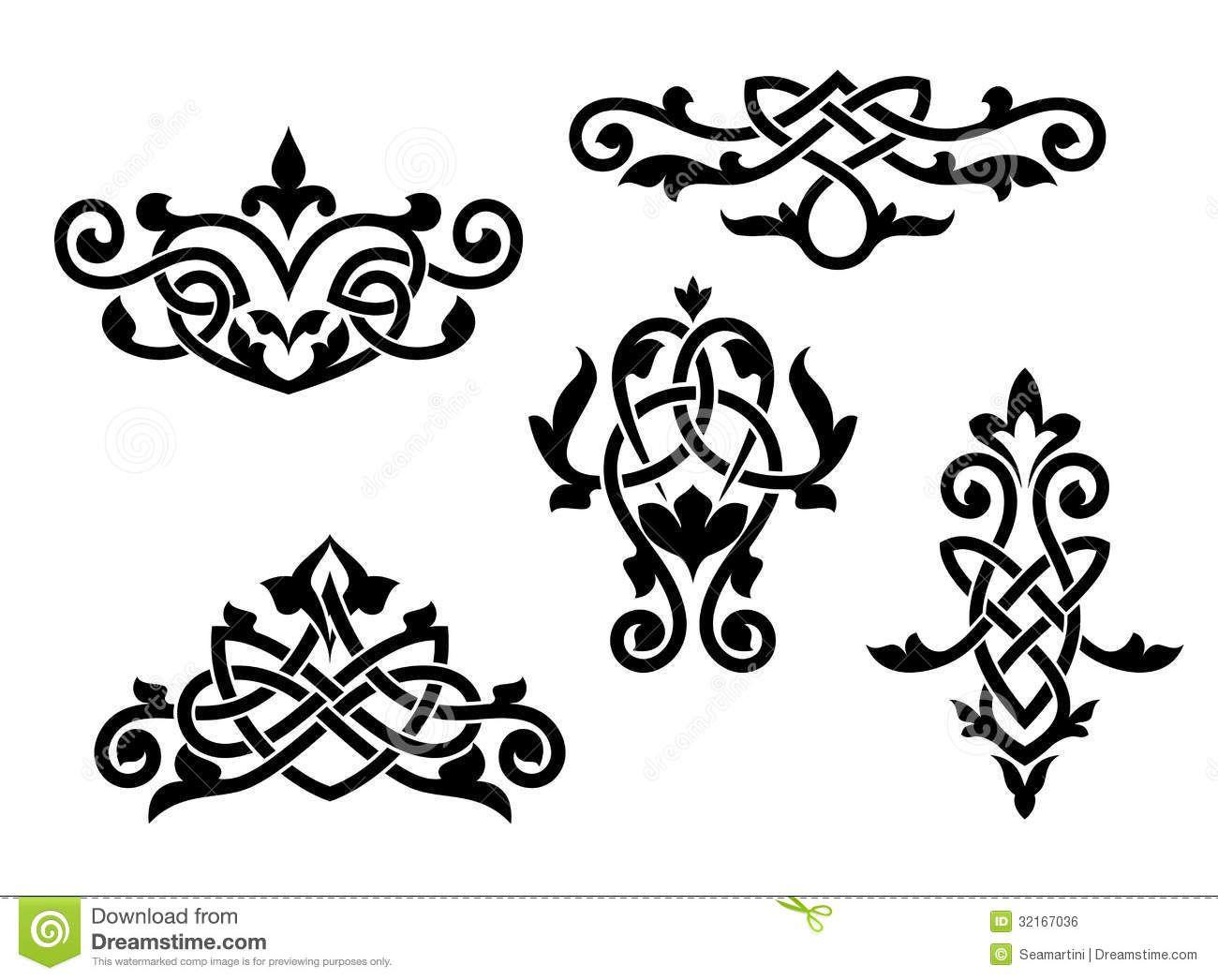 Victorian Scrollwork Border Victorian scrollwork designs.