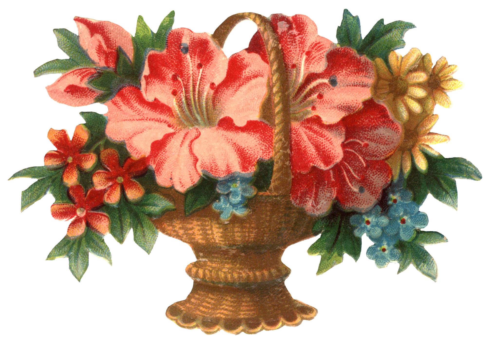 Victorian flower clip art clipground