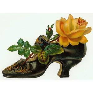 Victorian Floral Frame Clip Art.