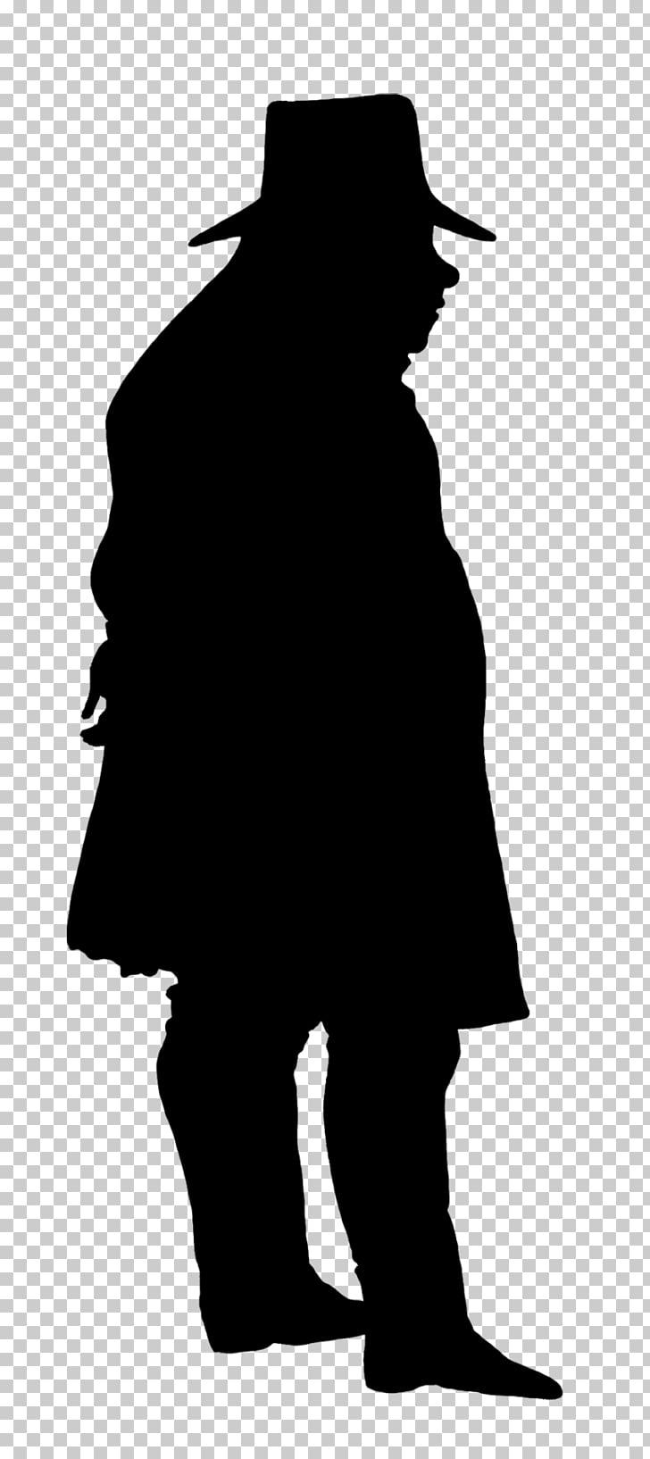 Victorian era Silhouette Gentleman , man silhouette PNG.