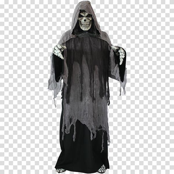 Halloween statue decor, Death Robe Halloween costume.