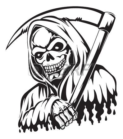 Grim Reaper Line Drawing at GetDrawings.com.