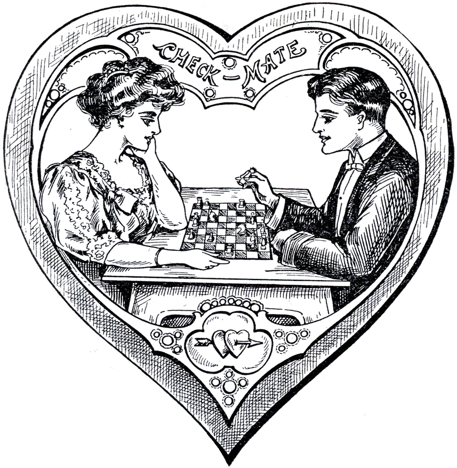 Victorian heart clipart 5 » Clipart Station.