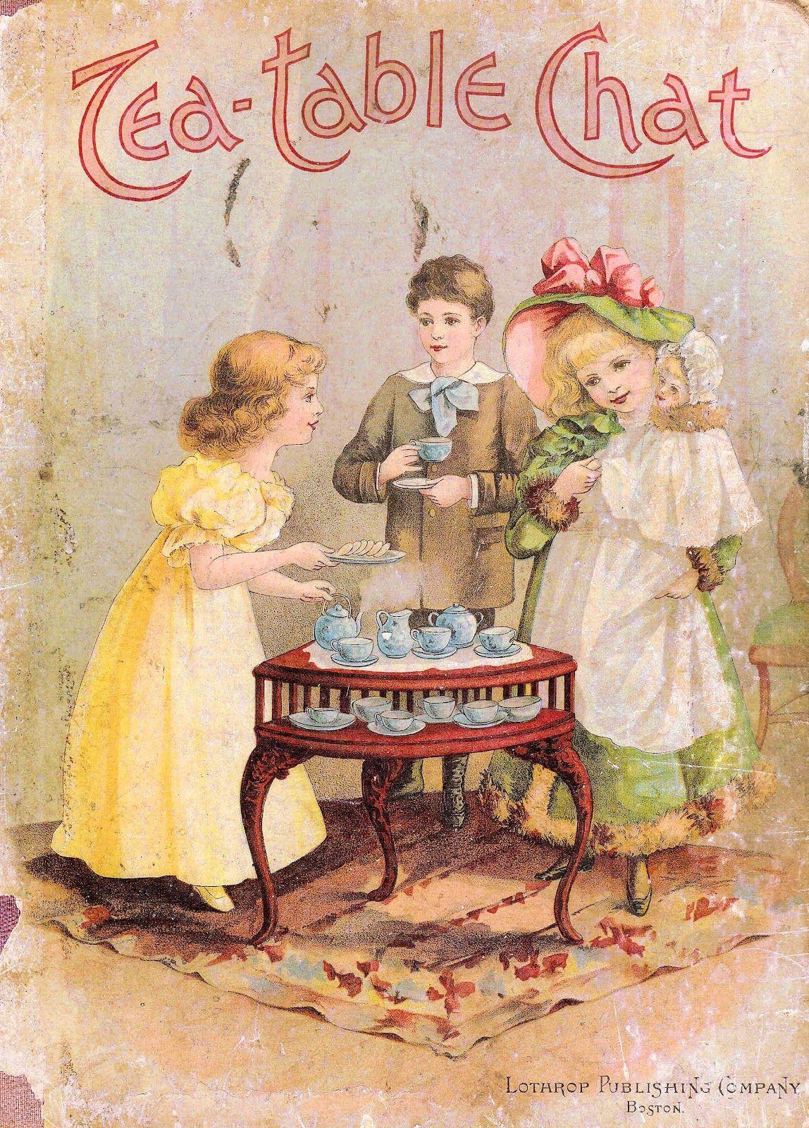 Victorian Tea Party Clip Art.