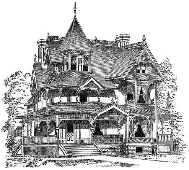 clipart victorian house.