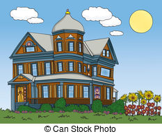 Victorian house Clipart Vector Graphics. 2,066 Victorian.