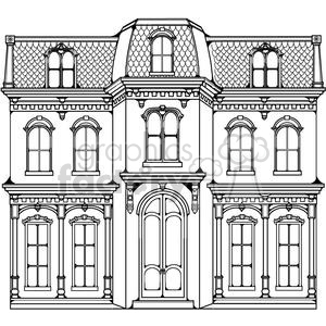 victorian home clipart. Royalty.