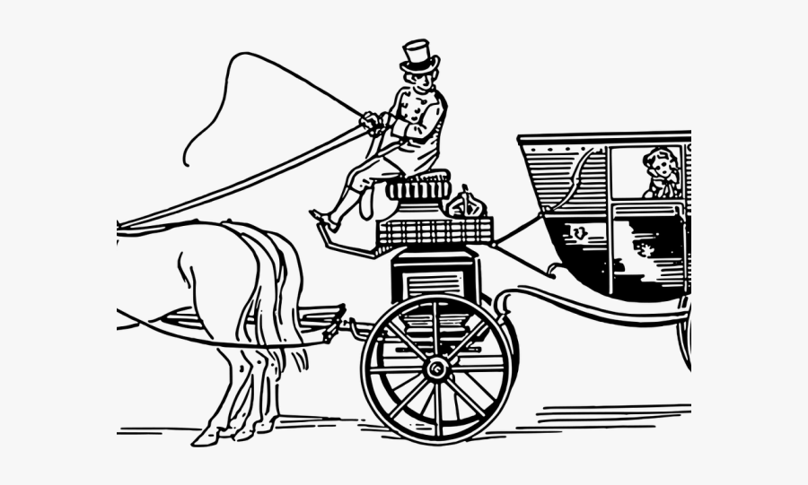 Horse And Carriage In The Victorian Times , Free Transparent.