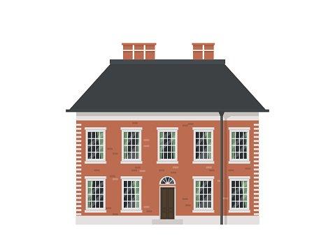 Victorian Houses Set premium clipart.