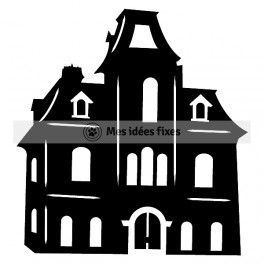 Victorian House Silhouette.