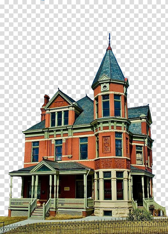 Victorian Building s, red and gray concrete house.