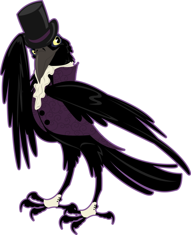 Crow clipart victorian, Crow victorian Transparent FREE for.