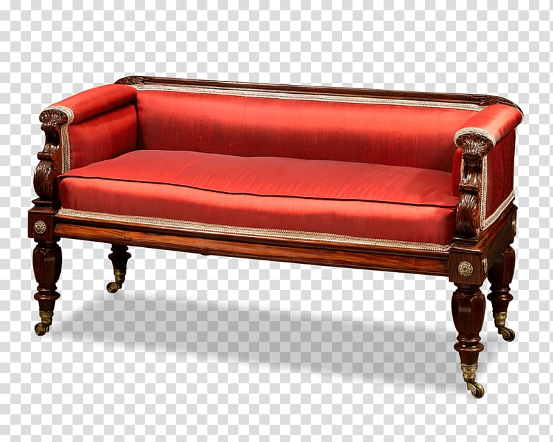 Loveseat Regency era Couch Table Victorian era, table.