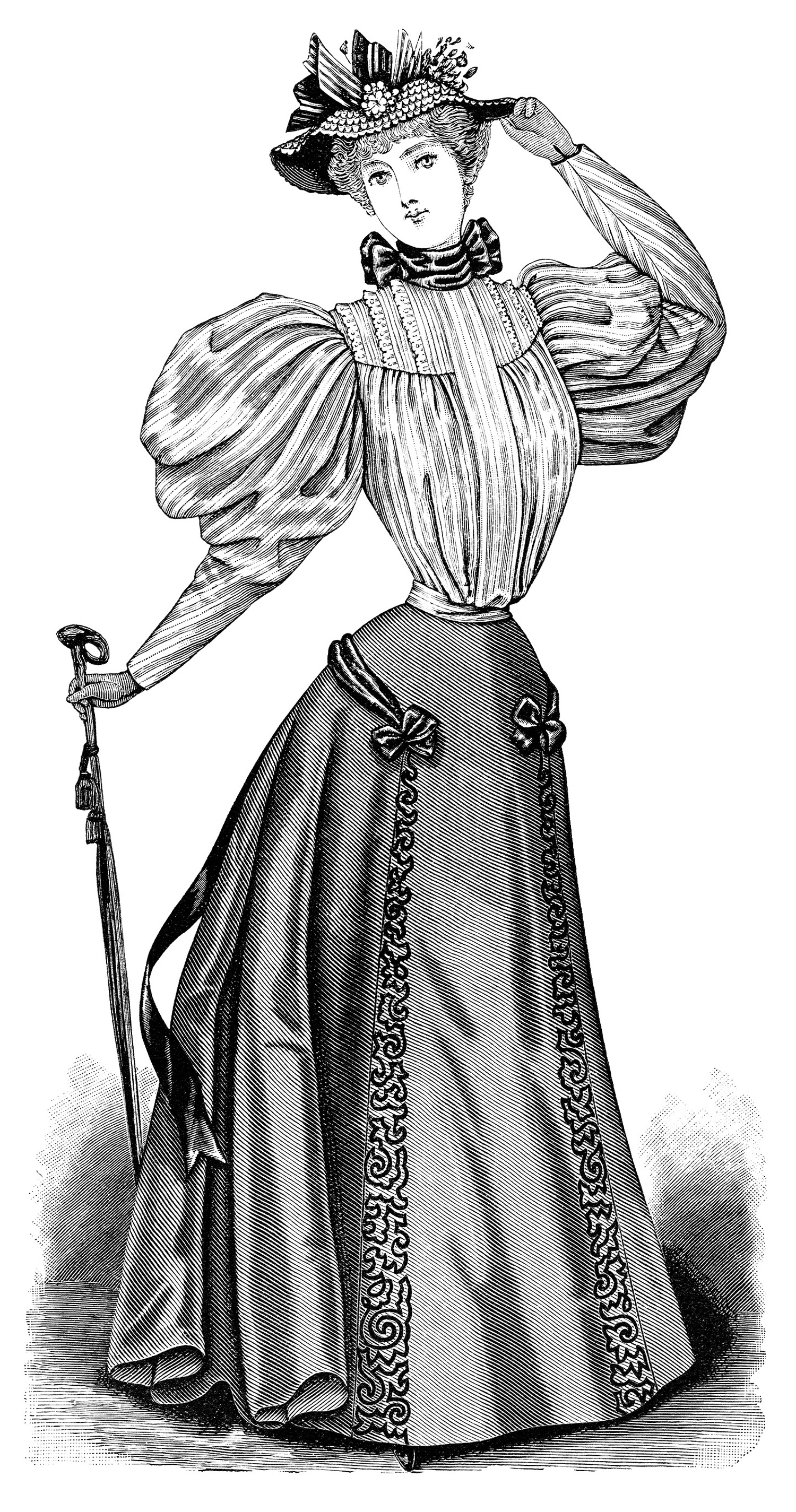 Victorian Lady Pictures Clip Art.