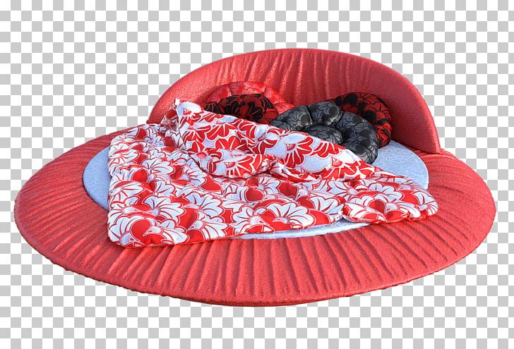 Light Bed Mattress Sleep, Home rest round mattress PNG.