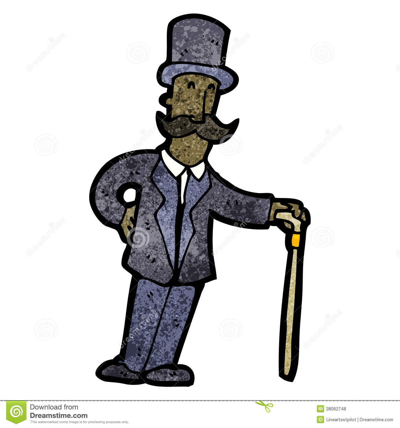 Victorian Clipart Man.