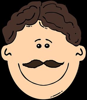 Mustache, People.