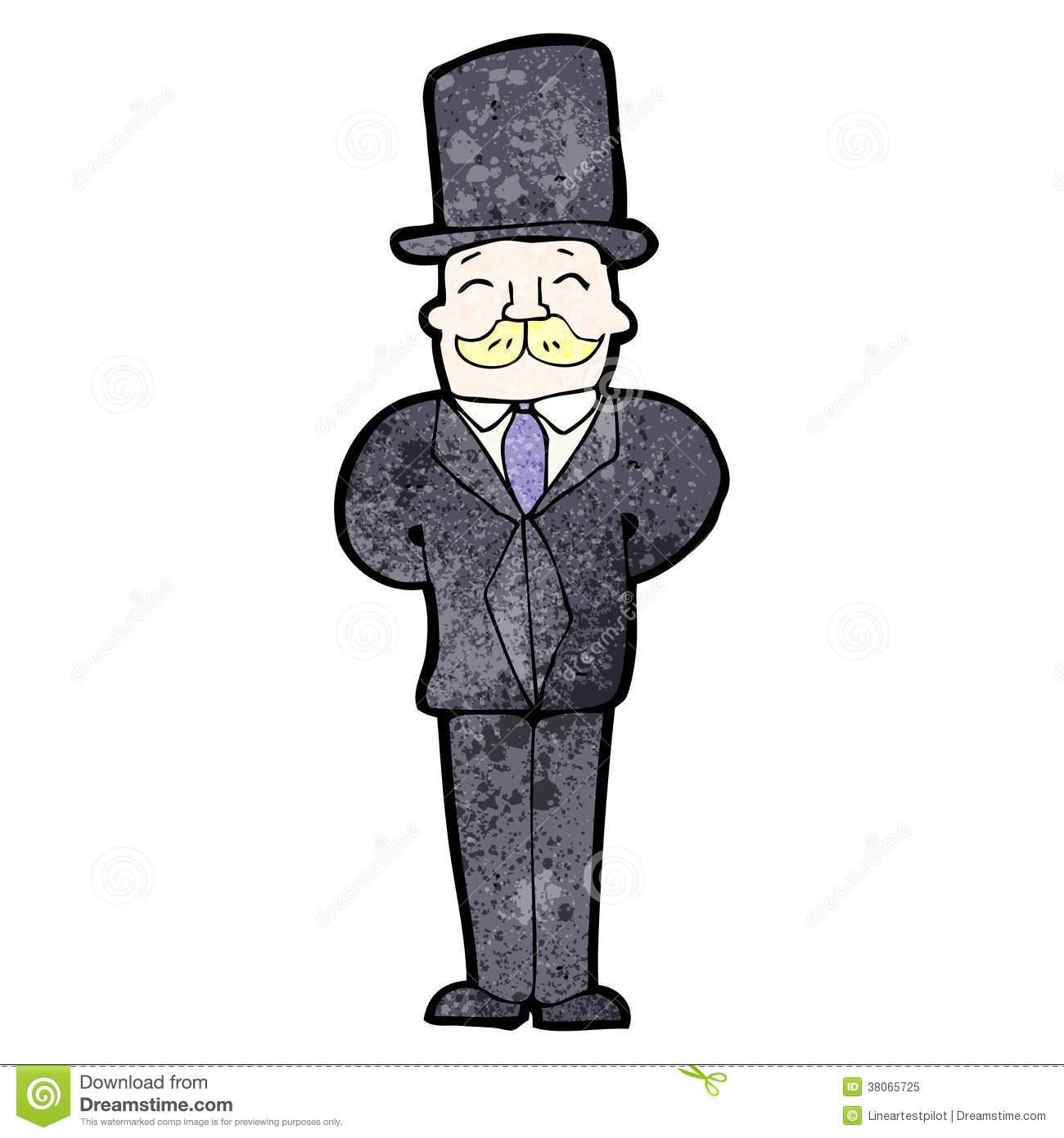 Victorian Man Clipart.