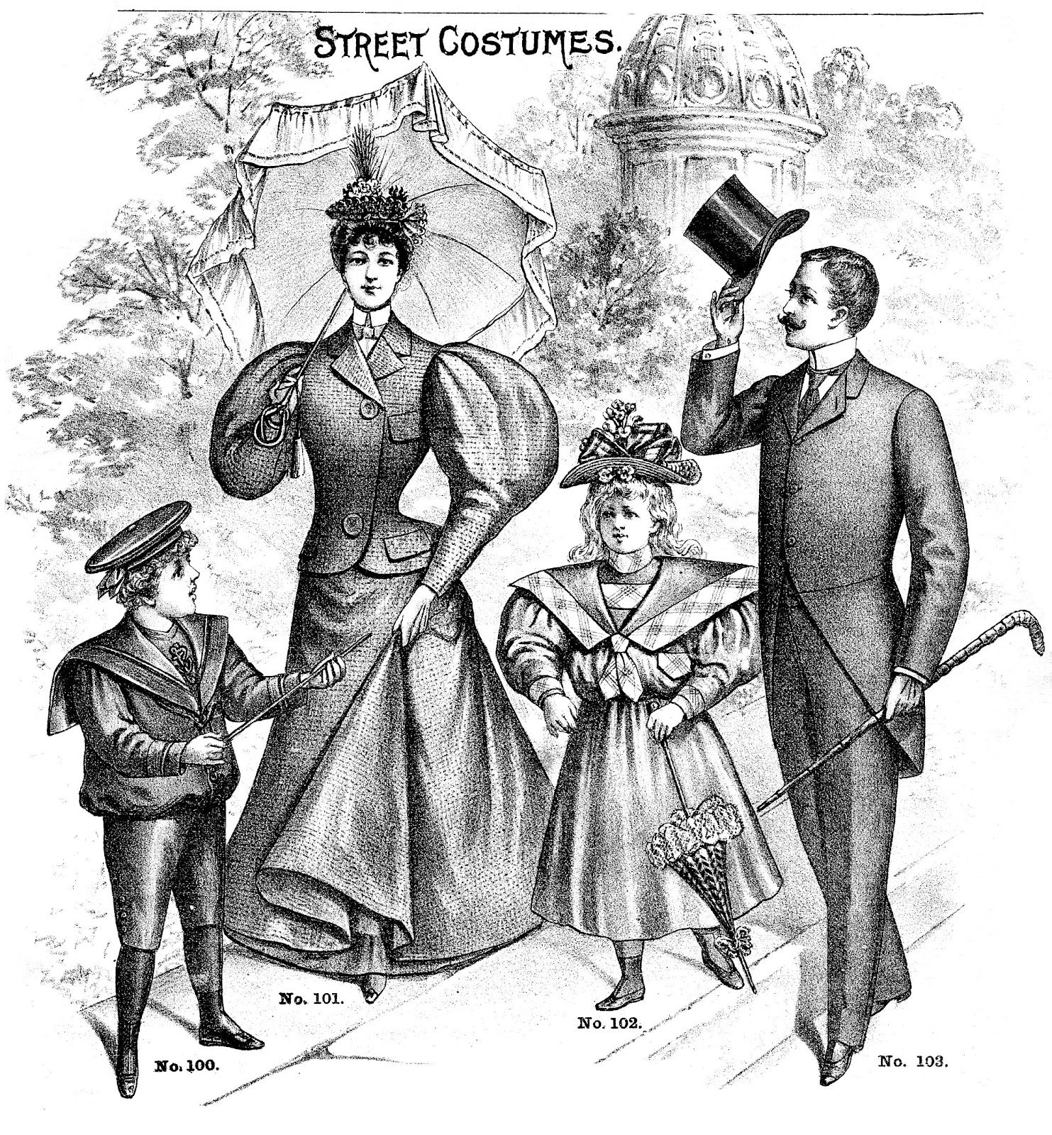 Victorian People Clipart.