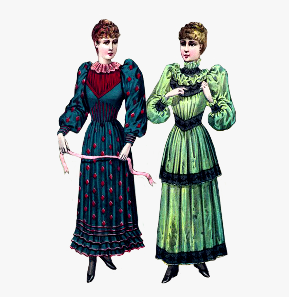Victorian Clip Art Two Ladies.