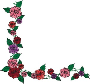 Flower border victorian rose borders clipart clipart kid.