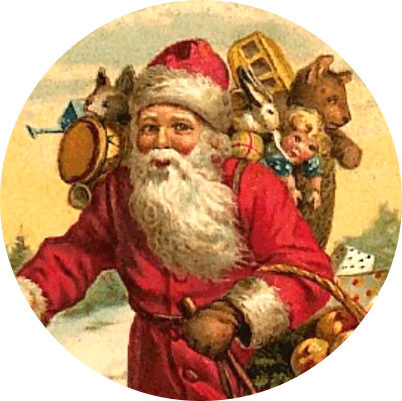 Victorian santa claus clipart.